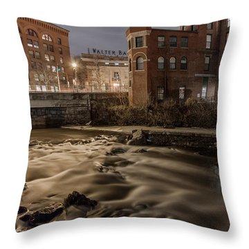 Walter Baker Chocolate Factory Throw Pillow