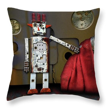 Walter Has A Surprise Throw Pillow by Joan Ladendorf