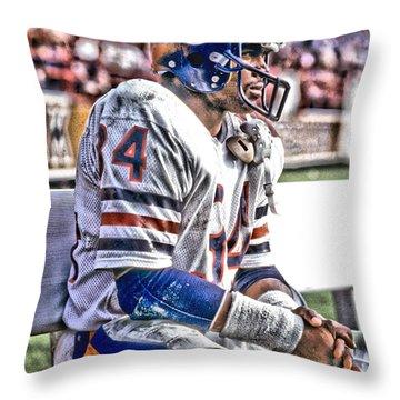 Walter Payton Chicago Bears Art 2 Throw Pillow