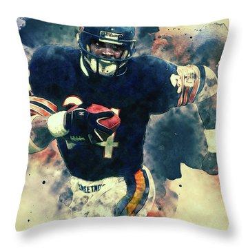 Walter Payton Throw Pillow
