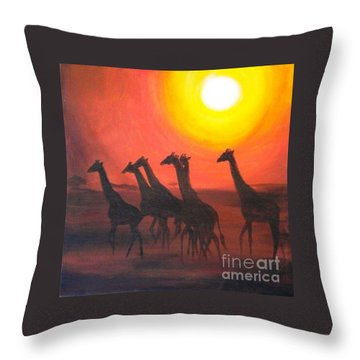 Throw Pillow featuring the painting Walters Africa by Sandra Phryce-Jones