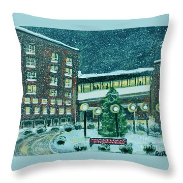 Waltham Hospital On Hope Ave Throw Pillow