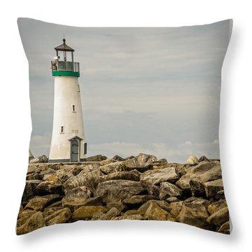 Walton Lighthouse Throw Pillow by James Hammond