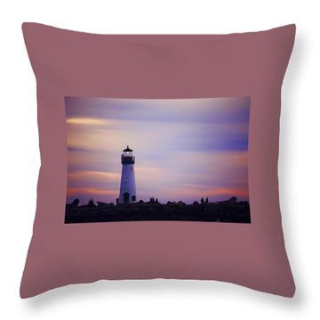 Walton Lighthouse Throw Pillow