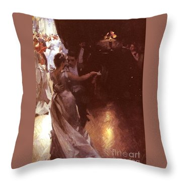 Waltz Throw Pillow by Anders Zorn