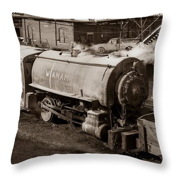 Wanamie Pennsylvania Coal Mine Locomotive Lokey 1969... Throw Pillow