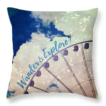 Throw Pillow featuring the photograph Wander And Explore by Robin Dickinson