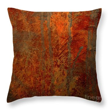 Throw Pillow featuring the mixed media Wander by Michael Rock