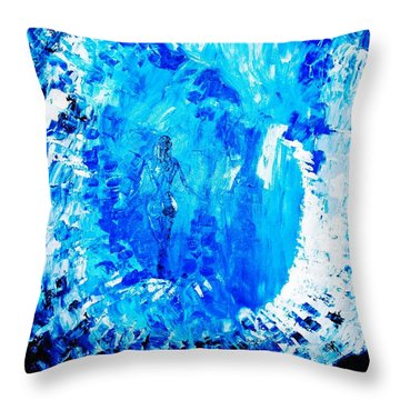 Throw Pillow featuring the painting Wandering Aimlessly by Piety Dsilva