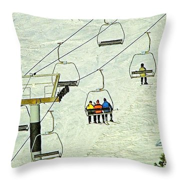 Throw Pillow featuring the photograph Wanna Lift by Wendy McKennon