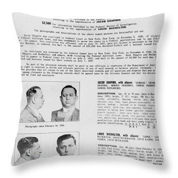 Wanted Poster, 1937 Throw Pillow by Granger