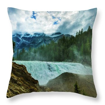 Wapta Falls 3 Throw Pillow