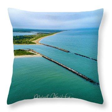 Waquiot Bay Breakwater Throw Pillow