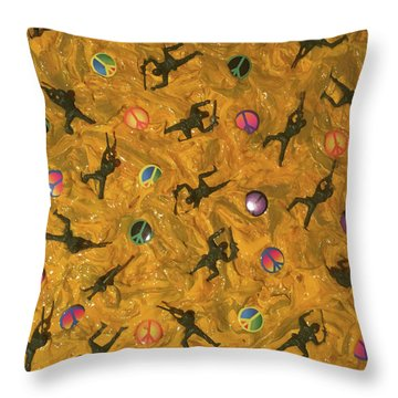 War And Peace Throw Pillow by Thomas Blood