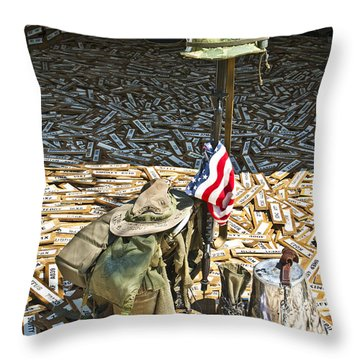 War Dogs Sacrifice Throw Pillow by Carolyn Marshall