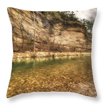 War Eagle Bluff Throw Pillow