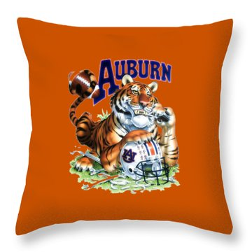 War Eagle  Throw Pillow by Herb Strobino