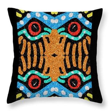 War Eagle Totem Mosaic Throw Pillow