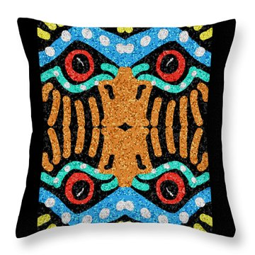 War Eagle Totem Mosaic Throw Pillow