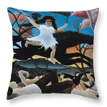 War Throw Pillow by Henri Rousseau