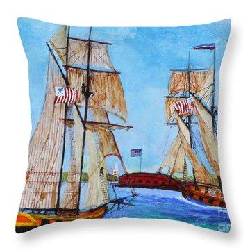 War Of 1812 In S.carolina Throw Pillow by Bill Hubbard