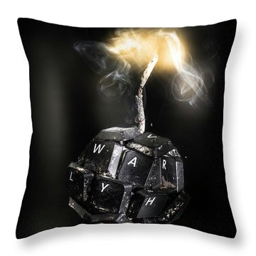 War On Information Throw Pillow