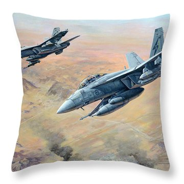 War On Terror Throw Pillow by Colin Parker