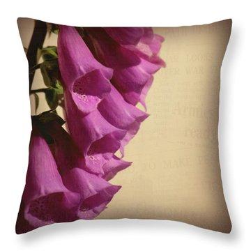 War Torn Throw Pillow by Bonnie Bruno