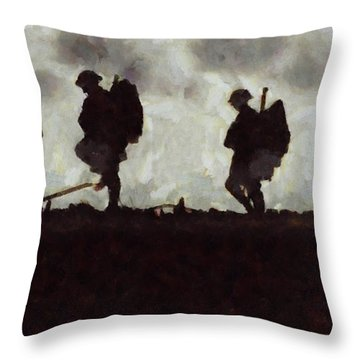 War Walk Throw Pillow