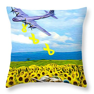 War Weary Throw Pillow