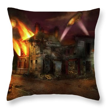Throw Pillow featuring the photograph War - Wwi - Not Fit For Man Or Beast 1910 by Mike Savad