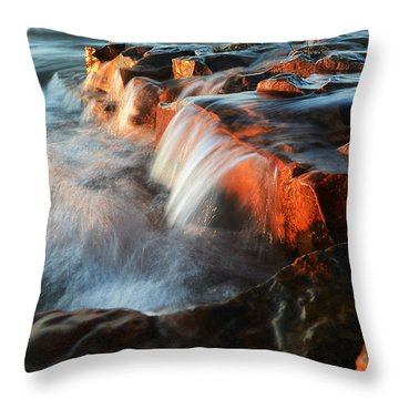 Wards Beach Waterfall-2 Throw Pillow