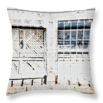 Warehouse Doors And Windows Throw Pillow
