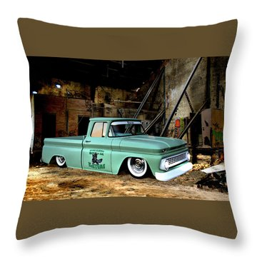 Warehouse Pickup Throw Pillow by Steven Agius