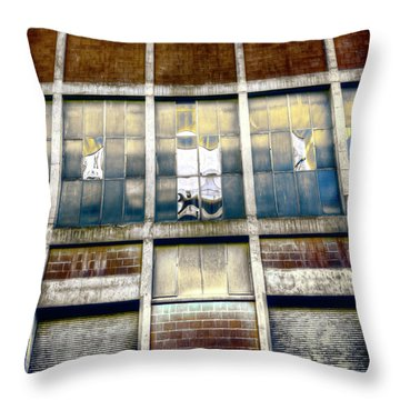 Throw Pillow featuring the photograph Warehouse Wall by Wayne Sherriff