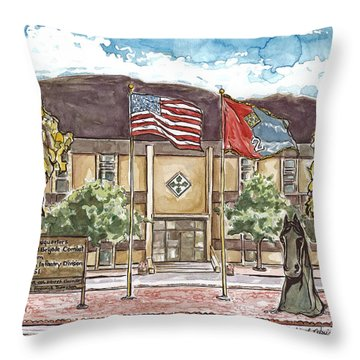 Warhorse Headquarters Throw Pillow
