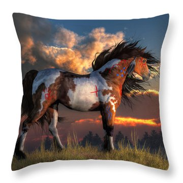 Warhorse Throw Pillow
