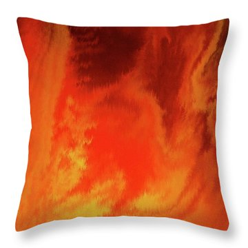 Throw Pillow featuring the painting Warm  by Alan Johnson