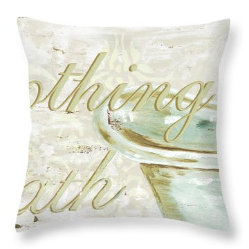 Warm Bath 1 Throw Pillow