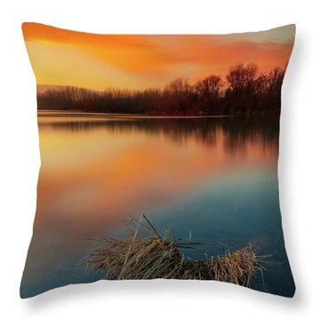 Warm Evening Throw Pillow