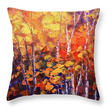 Warm Expressions Throw Pillow