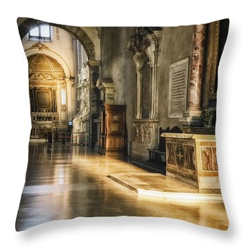 Warm Glow Throw Pillow by Joan Carroll
