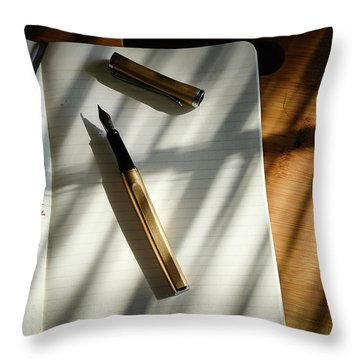Throw Pillow featuring the photograph Warm Gold Colors by Monte Stevens