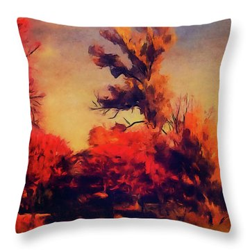 Warm Memories Throw Pillow by Paul Cristian Panaete