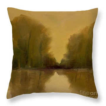 Warm Morning Throw Pillow
