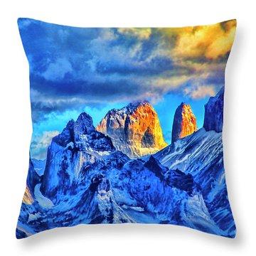 Warm Mpuntain Tops Throw Pillow