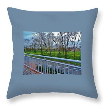 Warm Rainforest  Throw Pillow
