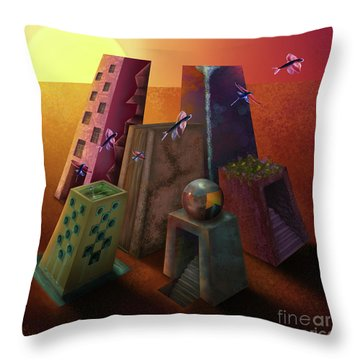 Warm Silence Throw Pillow