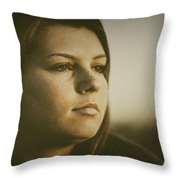Warm Summer Light Throw Pillow