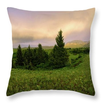 Throw Pillow featuring the photograph Warm The Soul Panorama by Chad Dutson